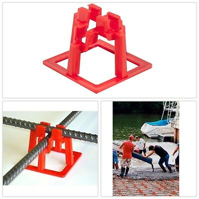 Rebar Chair 1-1/2 in. Bracket Support Systerm Code Concrete Rod Holder 50 Pack