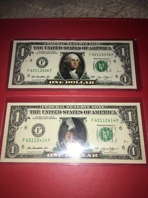 1 Dollar Colorized Bills 2 Quantity