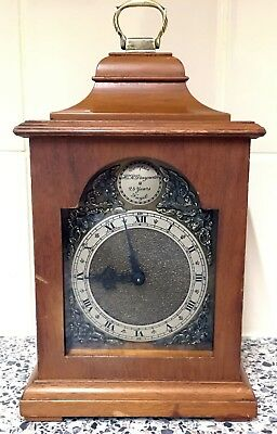 Antique Vintage Mahogany Rotherham Coventry Bracket Clock Hawker Siddeley