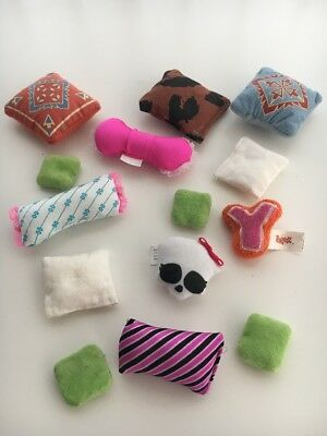 Monster High Barbie Brats Lot Doll Pillows Cushions Accessories