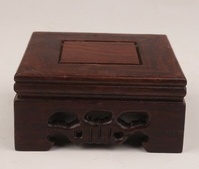 China Rare Wood Snuff Bottles Display Base Stand Square Decoration