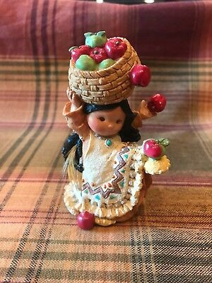 """1995 Enesco Friends Of The Feather """"She Who Shares Bushels"""" By Karen Hahn 145068"""