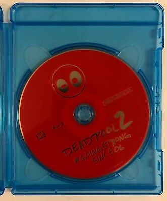 Marvel Deadpool 2 Blu Ray 1 Disc Only No Artwork No Slipcover Free World Shippin