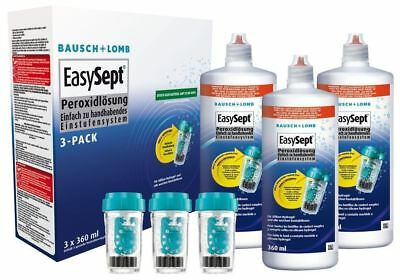 Bausch and Lomb EasySept One Step Peroxide solution 3x360ml - 3 Month Supply