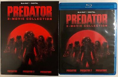 Predator 3 Movie Collection Blu Ray 3 Disc Set + Slipbox Free World Wide Shippin