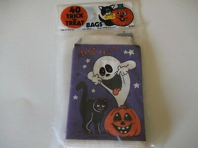 VTG Halloween Treat Bags Sacks Party Bags Party Favors Decorations Crafts Ghost