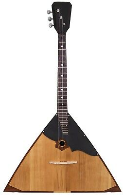 Russian balalaika made by hand using old technologies. Extra string as a gift