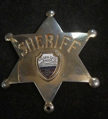 "Early As Is 2.25"" Golden Gate Bridge Sheriff Badge T2)"