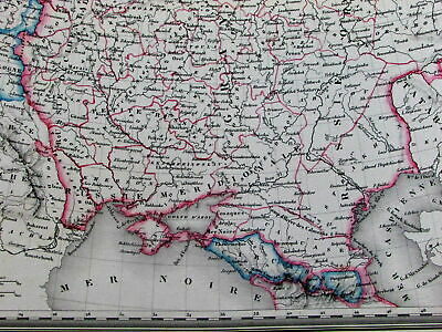 Russia in Europe Kingdom of Poland Austria Crimea Black Sea c. 1850 old map