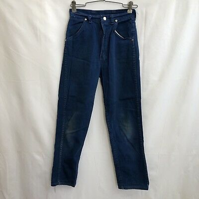 Wrangler Sanforized Blue Denim Girls 12 Vintage 70s Slim Tapered Cowboy Jeans