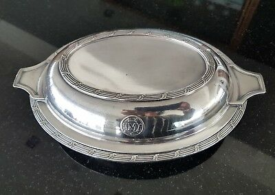 Matson Line Covered Serving Dish - Silver Plate