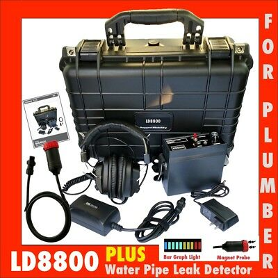 Ld8800 PLUS Water Pipe Leak Detector Locator For Plumber (New)