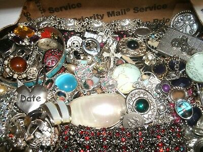 Mixed Costume Jewelry Lot lbs Wear/Repair Unsearched Silver Lot L60