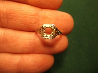 "Vtg Antique 18K White Gold ""belais"" Art Deco Semi-Mount Engagement Wedding Ring"