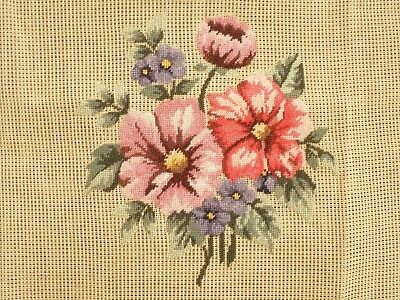 Petit Point Beautifully Worked On A Large Piece Of Canvas- Tiny Perfect Stitches