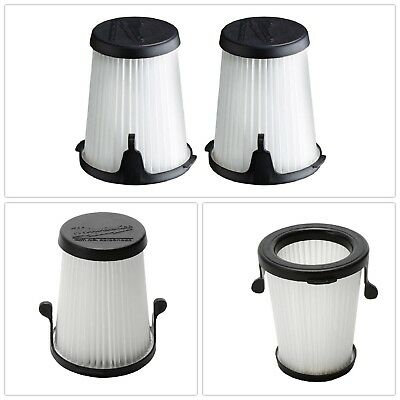 3 in. Replacement Filters 2 Pack Durable White Fits M12 0850-20 Compact Vacuum