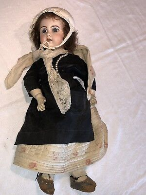 "Rare 1800's Jumeau ANTIQUE MARSEILLE Bisque Doll 22"" Ships Worldwide !"