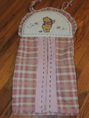 Disney Winnie The Pooh Diaper Stacker Delightful Day Pink  Butterfly Embroidered