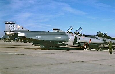 Original Slide USAF McDonnell F-4E MIG Killer 67-0301 CN 3081 Air Force Vietnam