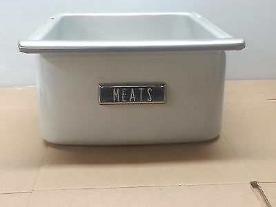 Vintage Retro GE General Electric Meats Drawer Pan 1940s 1950s