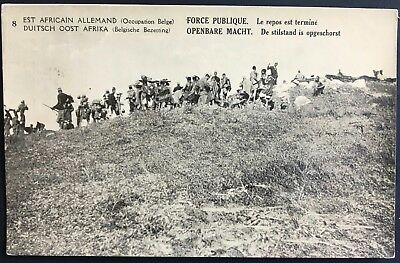 German East Africa Belgian occupation PPC # 8 soldiers move on, unposted