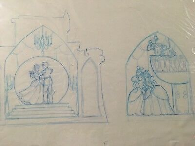 Original Disney Cinderella Sketch by Disney Artist Jennifer Oliver 1995
