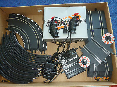 Scale Electric track set plus extra cars
