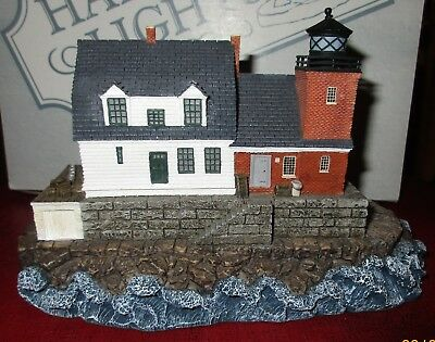 """2000 Harbour Lights """"Rockland Breakwater"""" Maine Lighthouse Replica, 1 owner"""