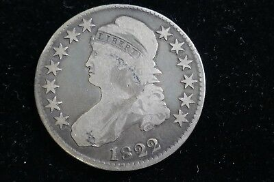 1822 American Capped Bust silver Half Dollar