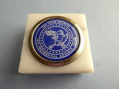 1972 PRESIDENTIAL ADVANCE TEAM 10-year reunion PaperWeight