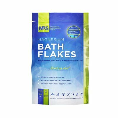 Magnesium Bath Flakes, Bath Salts, Epsom Salt, Body Muscle and Foot Soak