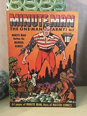 Minute Man #2 Cover Only One Man Army