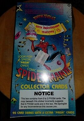 SPIDER-MAN 1992 Comic Images 30th Anniversary Trading Cards Factory Sealed Box