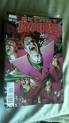 Secret Wars #5 Mile High Comics Alex Ross Tomm Coker Molecule Man Variant Covers