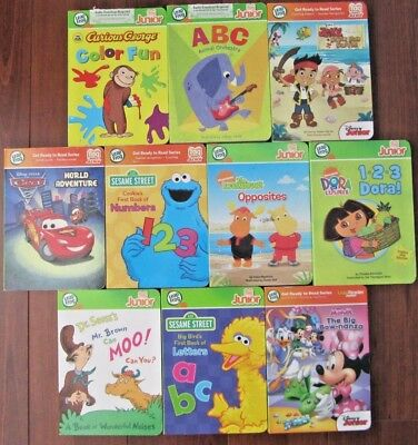 Leap Frog Tag Junior Reader 10 BOARD BOOK LOT NO PEN INCLUDED