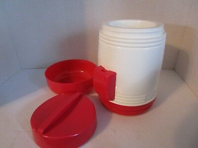 Aladdin 17 Oz. Microwavable Soup Thermos with Spoon Holder & Bowl Red / White