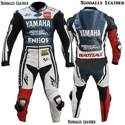 Yamaha Blue Motorcycle Moto-GP Leather Racing Suit  CE Approved