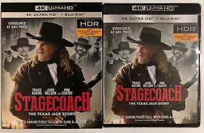 New Stagecoach The Texas Jack Story 4K Ultra Hd Blu Ray 2 Disc Set + Slipcover