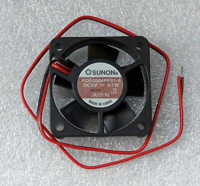 "Sunon 40mm x 10mm High Speed Fan 5V DC Bare 12"" Leads 40x10mm KDE0504PFS1-8"