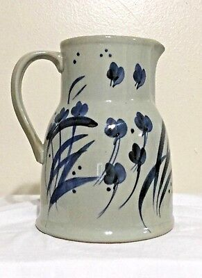 Beautiful Martha's Flowers Stoneware by Iron Mountain 64 oz Water Pitcher