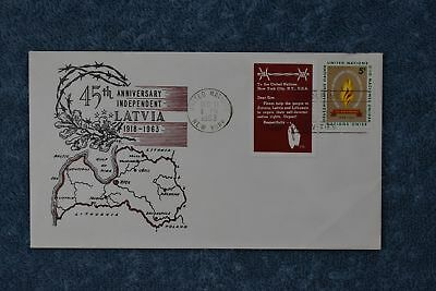 1963 45th Anniversary - Latvian Independence Cover