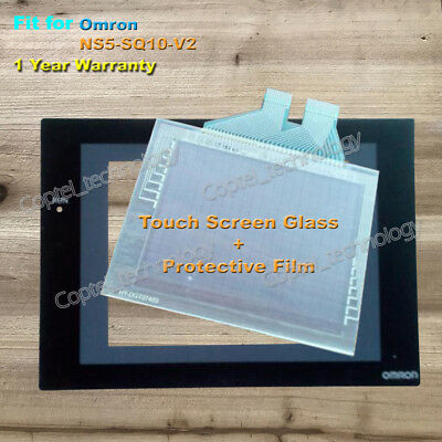 for Omron NS5-SQ10-V2 Touch Screen Glass + Protective Film 1 Year Warranty