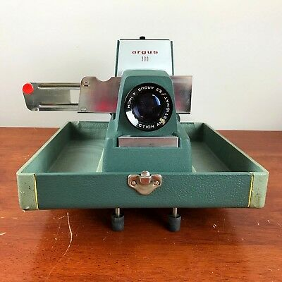 Vintage Argus 300 Portable Slide Projector w/ Carry Case Tested and Works