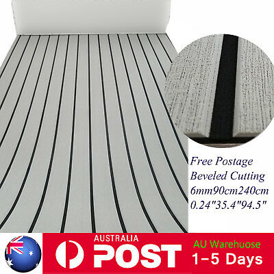 "EVA Teak Decking Sheet Boat Yacht Non-slip Flooring Mat Grey 94""×35"" Beveled"