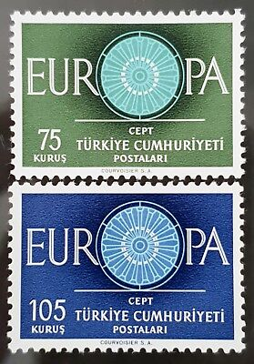 Turkey 1960 Sc # 1493 to Sc # 1494 Europa Mint MNH Stamps Set