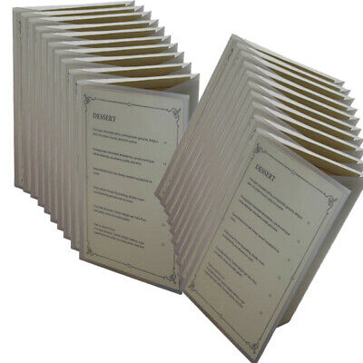 Bulk pack 20 A5 3 FOLD POLY MENU
