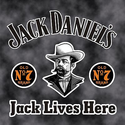 Jack Daniels,Car Decal/Sticker 150x150mm, Cut out, Easy apply instructons