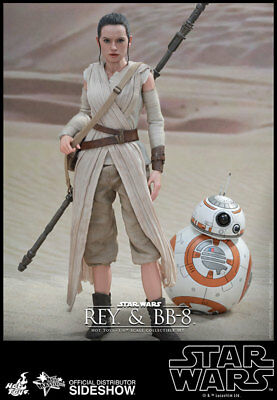Star Wars The Force Awakens 1/6 Deluxe Hot Toys Rey + BB8  Exclusive
