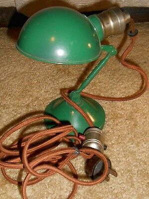 The Beaver by Hubbell Vintage Green Industrial Desk Clamp-On Lamp WORKS GREAT!
