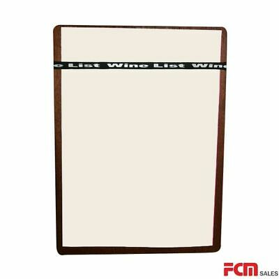 Economy bulk pack 20 A4 Walnut Timber Board + Wine List Silicone Band